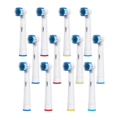 12 Pcs Fits For Braun Oral B Electric Toothbrush Head Replacement Brushes AU New