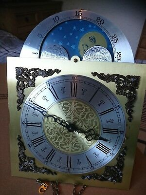 Grandmother clock Movement circa 1980s westminster rolling moon working longcase
