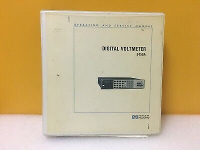HP / Agilent 03456-90004 Digital Voltmeter 3456A Operating + Service Manual