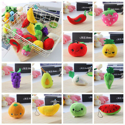 Size Key Pendant  Stuffed Vegetables Children Dolls Plush Fruits Little Toys