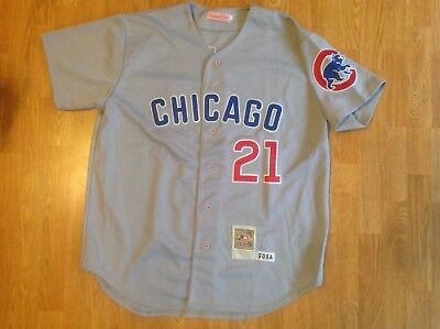 brand new 18e8d 85814 SAMMY SOSA MITCHELL & Ness Chicago Cubs Jersey Size 2X Cooperstown  Collection