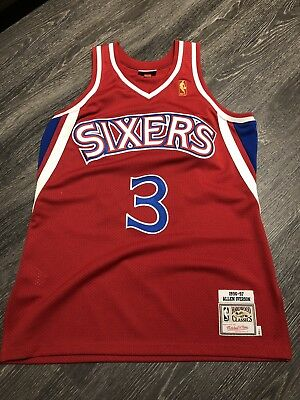 cca010b9059 100% Authentic Allen Iverson Mitchell Ness Rookie 96 97 Jersey Size 44 L  Large