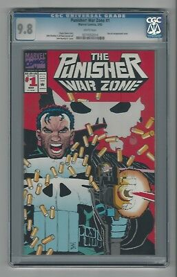Punisher War Zone #1 CGC 9.8 NM/M Marvel Comics Venom 3/92 Die Cut Cover