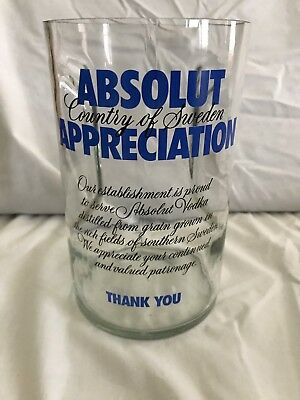 Absolut Appreciation Glass Tip Jar Promotional Collectible Absolut Vodka