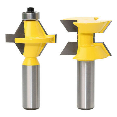 "2 Bit Tongue and Groove Edge Banding Router Bit Set - 1/2"" Shank"