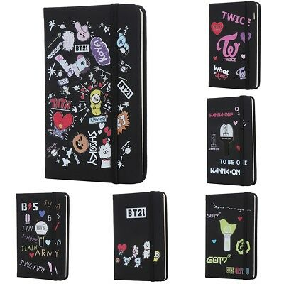 Kpop BTS Bangtan Boys Study Notebook PU Pocketbook Note Pads Diary Workbooks
