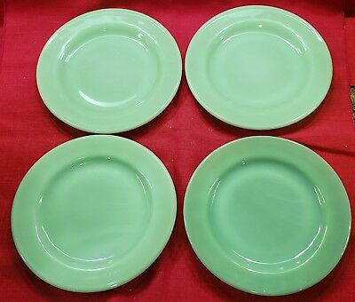Jadite Restaurant Ware 6-3/4 inch Pie Cake Bread Plate Lot/4 FOUR Fire King #2