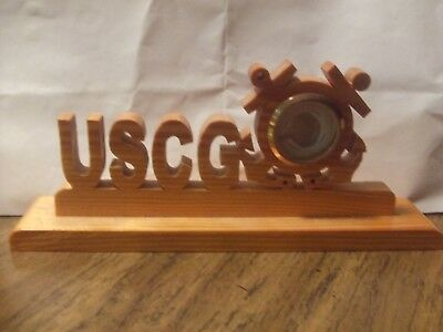 United States Coast Guard photo holder-Scrolled Wood Hand Crafted