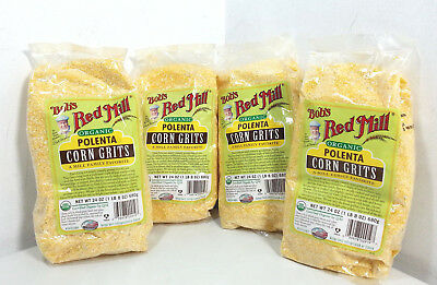 Bob's Red Mill Organic Corn Grits Polenta 24oz (Pack of 4) [MR176-BR4]