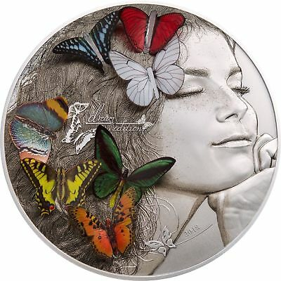 2018 $20 Palau Exotic Butterflies Dream Edition 5oz .999 Silver Coin