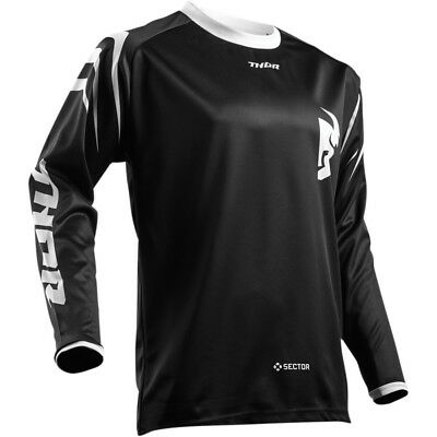2019 Thor MX Mens SECTOR ZONE Race Jersey -BLACK MEDIUM- Motocross Off-Road ATV