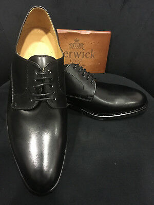 Berwick 1707 Scarpa in pelle Blucher Nero Goodyear Welted Welted Oxford