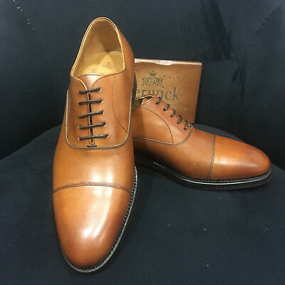 Berwick 1707 Scarpa in pelle Oxford Cognac/Marrone Goodyear Welted Welted Spagna