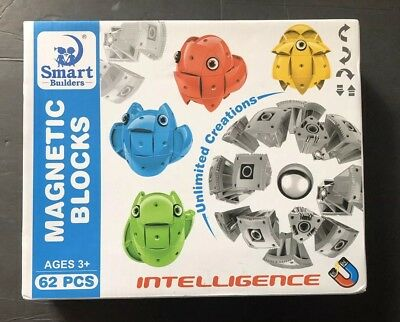 Morye Magnetic Animals Building Blocks 62pcs Smart Builders