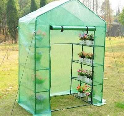 Portable 4-Tier Mini Greenhouse 8 Shelves PE Cover Plant Flower Gardening Sturdy