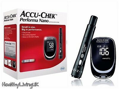 Accu Chek Performa Nano Blood Glucose Meter/Monitor/System + 10 Test Strips