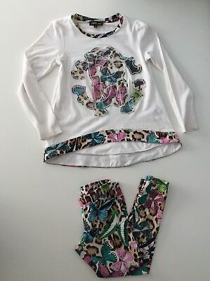 roberto cavalli Outfit Set Age 6 Years Size 122cm Vgc Leggings & Top