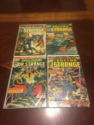 DR STRANGE Lot of 4 #5,12,14,20   (1974-76) VG