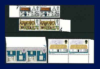 1970 SG815-818 5d-1s6d Cottages Set (4) Marginal PAIRS Unmounted Mint MNH awlz
