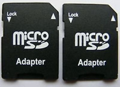 2 Pc MICRO SD SDHC MEMORY CARD ADAPTOR ADAPTER CONVERTER TO STANDARD SD UK STOCK