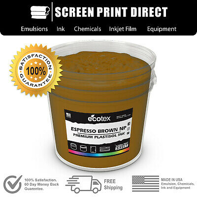 Ecotex ESPRESSO BROWN NP - Premium Plastisol Ink for Screen Printing - ALL SIZES