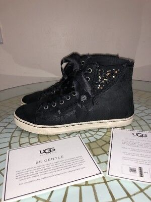 bbbce9df88f UGG AUSTRALIA BLANEY CRYSTALS Choc Lace Up Sneakers Size US 7 OR 7.5 ...