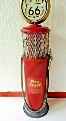 One Fire Chief Route 66 Metal Gas Pump Wall Decor Vintage Look Decor