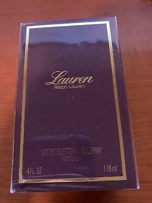 Lauren By Ralph Lauren Women Perfume EDT Spray 4.0 oz 118 ml NIB Sealed