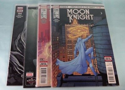 Moon Knight #188 189 190 191 192 193 194 Crazy Runs in the Family, Marvel Comics