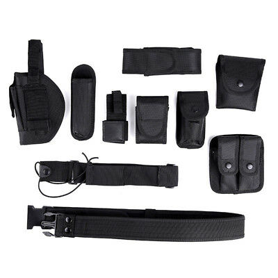 Enforcement Tactical Nylon Belt Adjustable Black Accs Rig For Police Officer