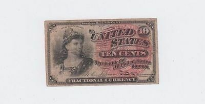 1863 United States of America 10 Cents Fractional Currency Note Civil War Bill