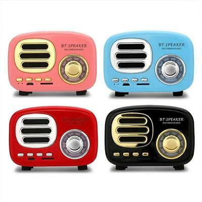 Retro HIFI Wireless Bluetooth Speaker Mini Portable Fm Radio TF Card U Disk