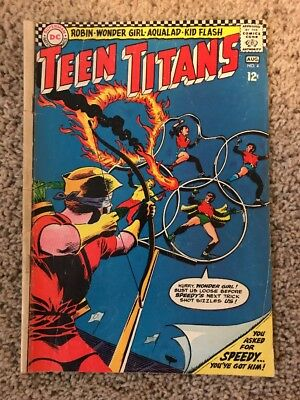 Teen Titans #4 DC Comics Kid Flash Speedy July Aug 1966 Olympic Heroes