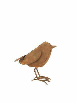 Rusty Metal Bird Ornament Statue Handcrafted Animal Available 3 sizes 23,18,10CM