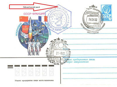 USSR 1982 Joint flight USSR-France Soyuz T-6  to the Salute-7