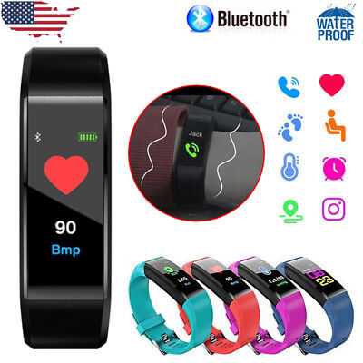 Smart Bracelet Heart Rate Monitor Blood Step Counter Fitness Tracker Smart Watch