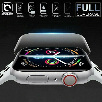 For Apple Watch Series 4 3D Edge Tempered Glass Full Screen Protector 40/44mm US