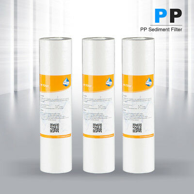 3x  PP Cotton Filter Water Filter System Water Purifier 10 Inch Micron Sediment