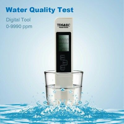 Digital LCD TDS EC Water Quality Meter Tester Filter Purity Pen Stick 0-9990PPM