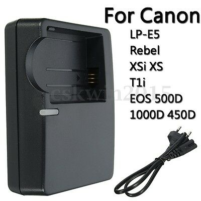 Camera Battery Charger For Canon LP-E5 Rebel XSi XS T1i EOS 500D 1000D 450D