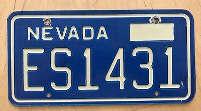 "1980's  Nevada Auto Passenger License Plate "" Es 1431 ""  Nv Esmeralda County"