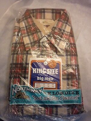 Northway Flannel Shirt Size 1X  Usa Made Old Stock Deadstock (Lot A )