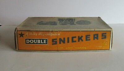 Vintage Milky Way Confection Double Snickers Cardboard Box Candy Advertising