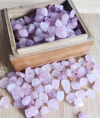 Tumbled Gemstone Natural Crystal Rose Quartz Chip Stone 5g Medium TypeB