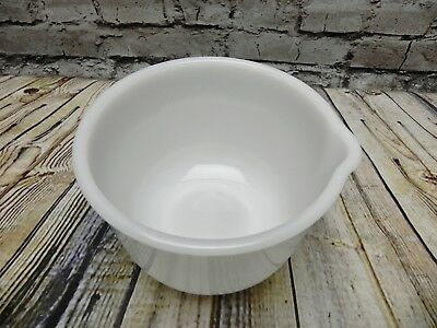 Vintage Glasbake Made for Sunbeam Mixer White Milk Glass Mixing Bowl 20CJ