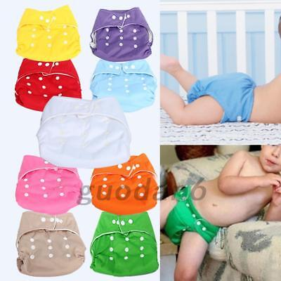 Reusable Washable Adjustable Waterproof Cloth Baby Nappy Pocket Diaper New