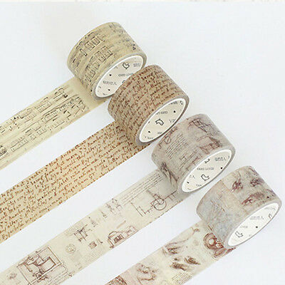 Vintage Chopin Music Note Decoration Washi Tape DIY Scrapbooking Masking Tape