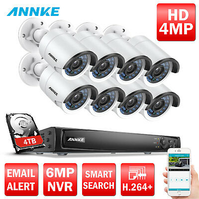 8CH /4CH NVR 960P/1080P/4MP Security IP Camera System POE Video Home Business 4T