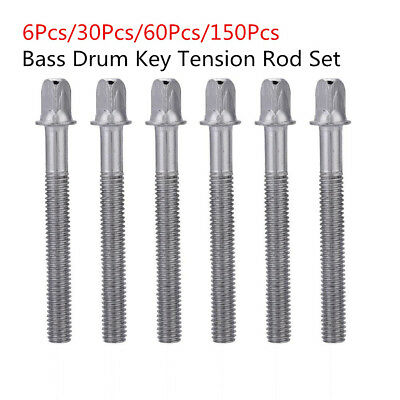 Standard 6 * 60mm Bass Drum Key Tension Rod Set Replacement Accessory Part