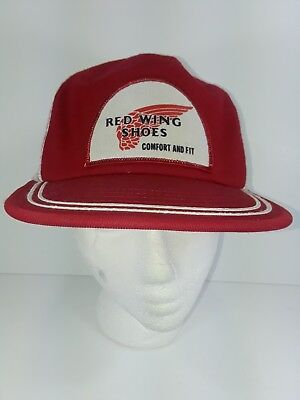 198b2d8fa VINTAGE RED WING Shoes Mesh SnapBack Trucker Hat Made USA M Comfort and Fit  Cap